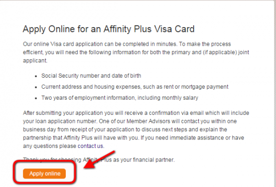 Affinity Plus Online >> Affinity Plus Credit Cards Personal Business American