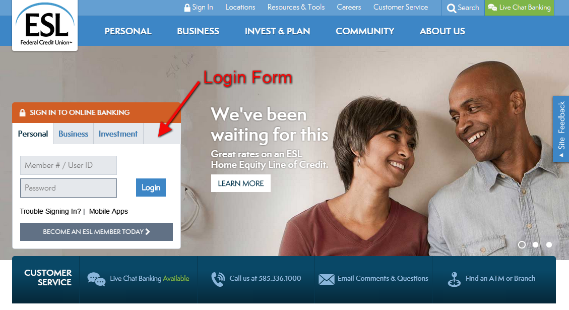 Esl Federal Credit Union Online Banking Login American Credit Center