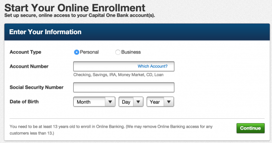 Capital One Online Banking Sign-In - American Credit Center