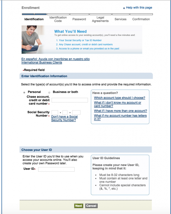 Chase Bank Online Banking Sign-In