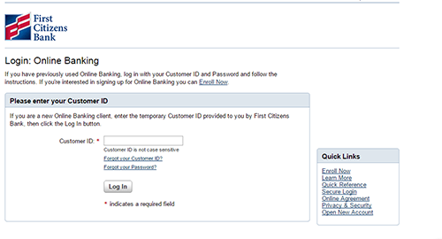 first citizens bank online banking sign in american credit centerfirst citizens login form 1