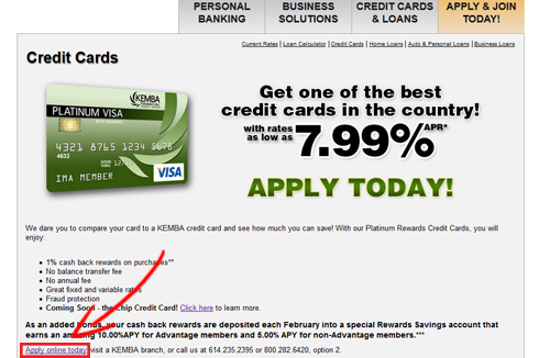 Kemba financial credit union credit cards personal business kemba fcu credit card application 1 reheart Choice Image