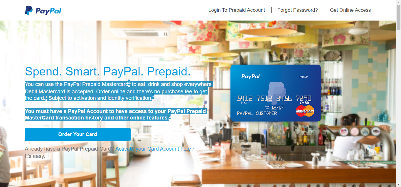 Paypal Prepaid Debit Cards | American Credit Center | Credit