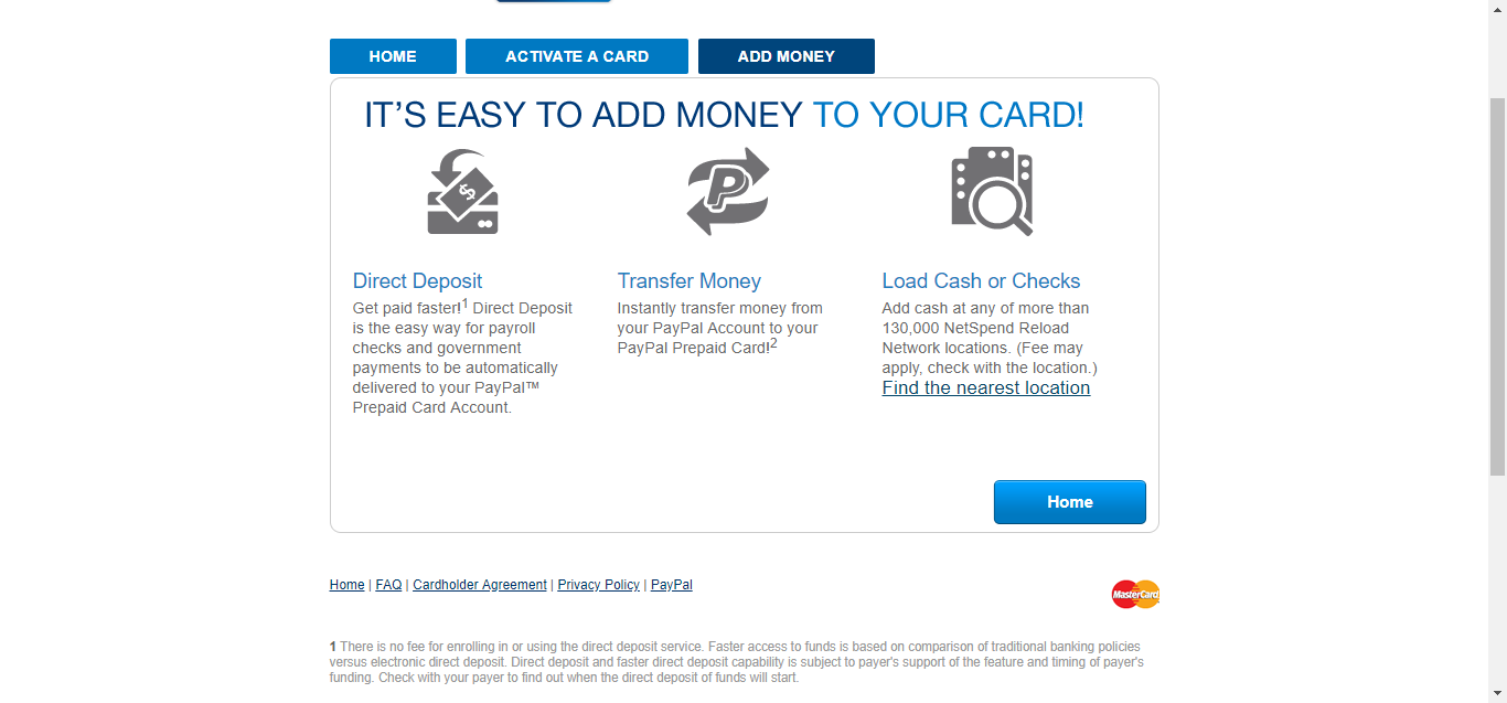 step 6 looking for information on the locations where you can load funds into your card the homepage has a section that allows you to pick out the - Add Money To Prepaid Card With Checking Account